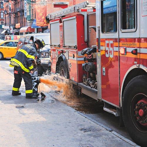 fireman and truck